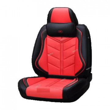 Huse scaun auto 9D VIP din imitatie piele, set 14 piese