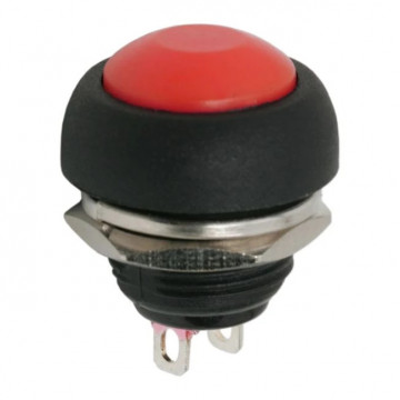 Buton 1 circuit 1A-250V OFF-(ON), rosu