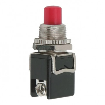 Buton 1 circuit 4A-250V OFF-(ON), rosu