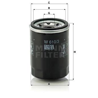 FILTRU ULEI MANN-FILTER W610/3