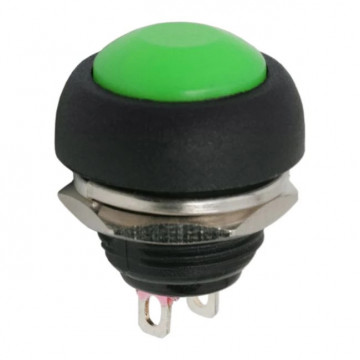 Buton 1 circuit 1A-250V OFF-(ON), verde