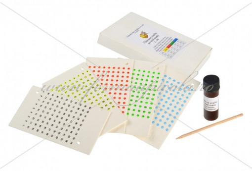 Poze Set pentru marcarea matcii cu placute din opalit - 5 culori, adeziv si aplicator