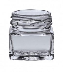 Borcan patrat - 40 ml