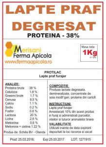 Lapte praf degresat - 38% proteina