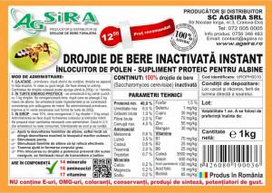 Drojdie de bere inactivata - 1 kg - Agsira