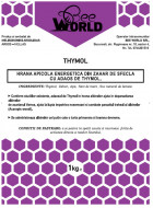 Turta energetica din zahar - Bee World - cu THYMOL