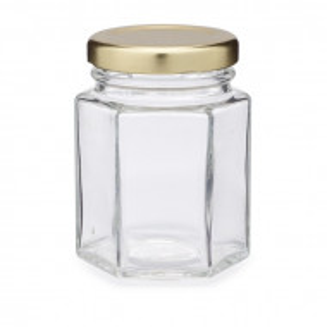 Borcan hexagonal - 110 ml