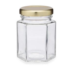Borcan hexagonal - 196 ml