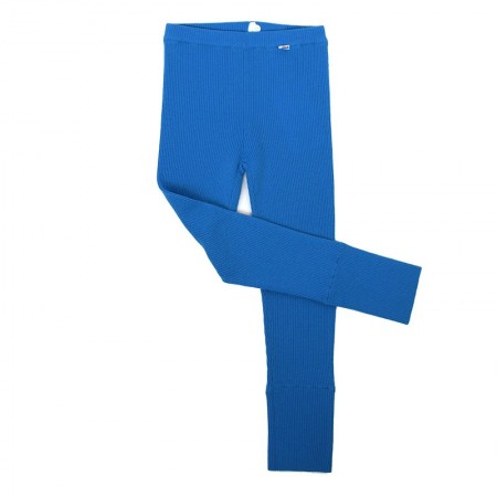 Colanti Rib lână merinos - Ibiza blue