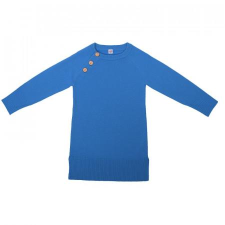Rochie lână merinos - Ibiza blue