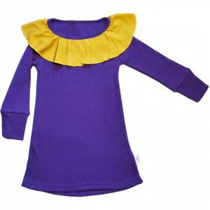 Rochie Rib lână merinos - Prism Violet