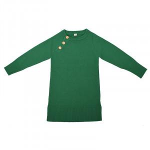 Rochie lână merinos - Green Grass