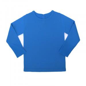 Bluză lână merinos - Ibiza blue