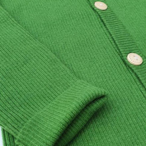 Cardigan Rib lână merinos - Apple green
