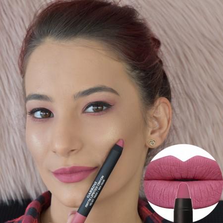 Cod 0222, Creion Ruj Mat Velvet Touch-Rich Color, nuanta 07 - Pink Lips