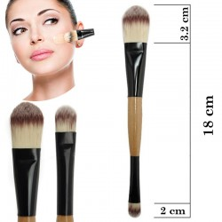 COD 0250, Pensula dubla fond de ten + concealer (corector), Double Foundation and Concealer Brush