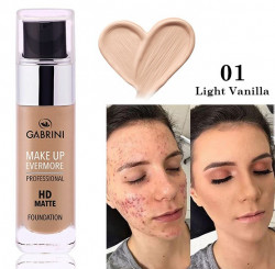 Set Baza de Machiaj + Fond de ten Gabrini HD MATTE Foundation