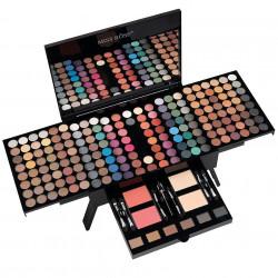 COD 309, Trusa Machiaj Profesionala 190 culori cu blush, pudra sprancene Piano Makeup Professional Palette