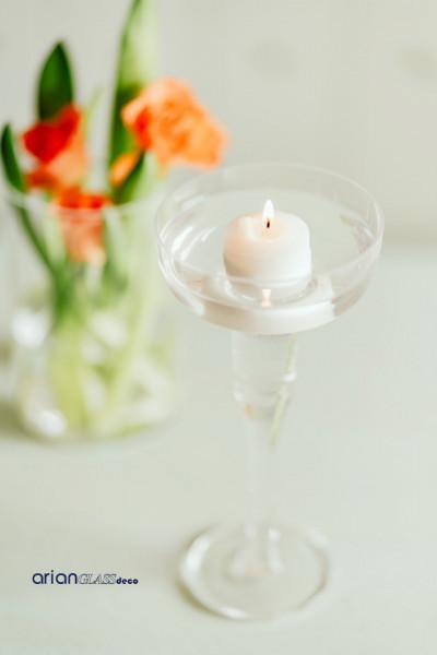 sfesnic sticla pentru lumanare