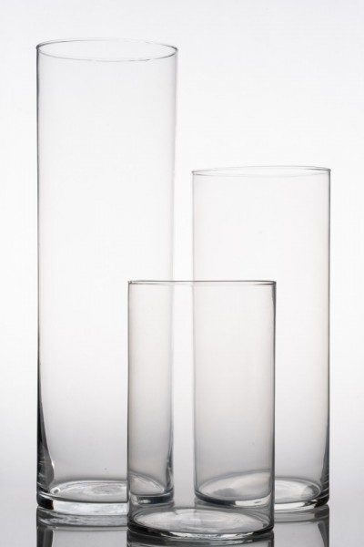 Set 3 cilindri sticla LOVE