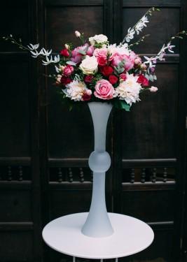 Vaza din sticla matisata Iuno H 60 cm