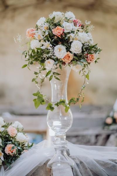 Vaza din sticla pentru nunta Cleopatra H 70 D 22 cm