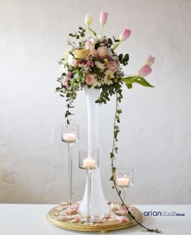 vaza sticla inalta pentru nunta