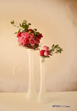 vaza sticla pentru aranjamente nunta