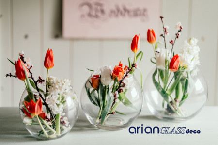 bol sticla pentru flori