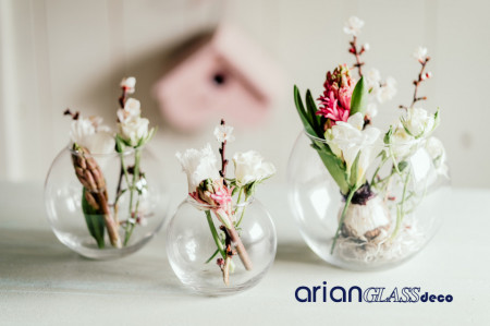 bol sticla aranjamente florale nunta