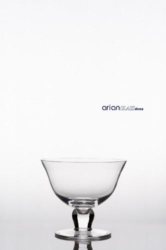 Cupa sticla Natalia H 13 D 16 cm CLEAR