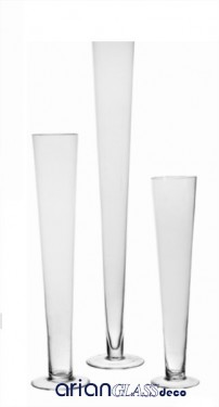 vaza sticla inalta montana h 60 cm