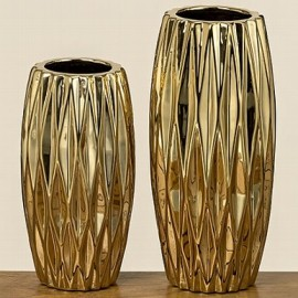 770030 Vaza aurie Clariso H 21 D 10 cm