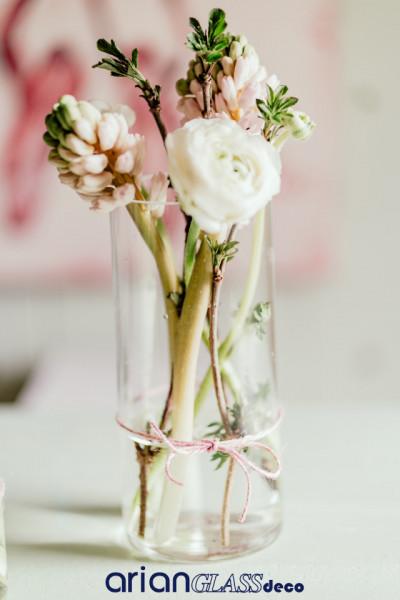 bol cilindric sticla pentru flori