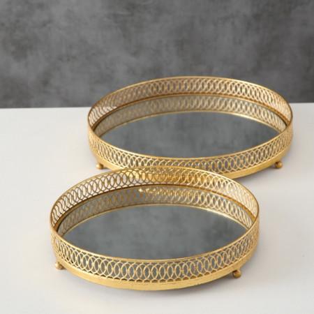 Set 2 tavi aurii D33-38 cm