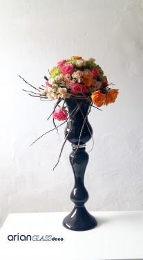 Vaza din sticla neagra Alexandra H 65 cm