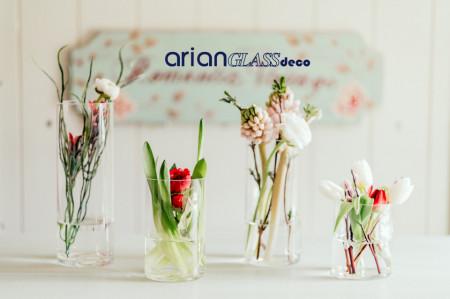cilindri sticla pentru aranjamente florale