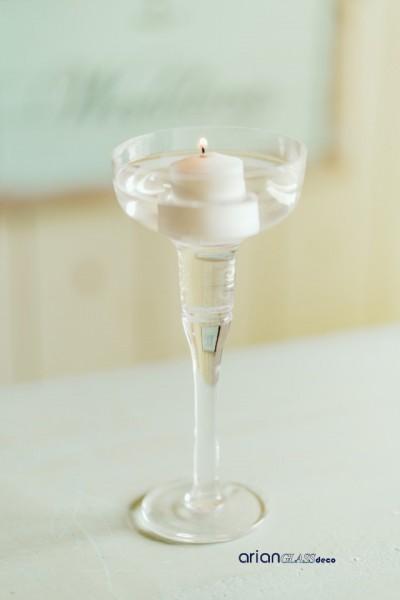 suport lumanare sticla