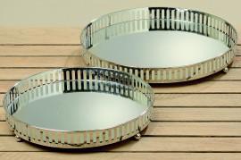 42184 Set 2 tavi cu oglinda Manta D26 - 30 cm