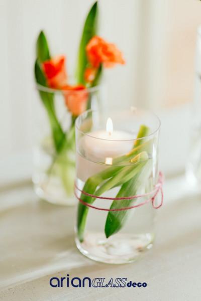 vaza cilindrica sticla