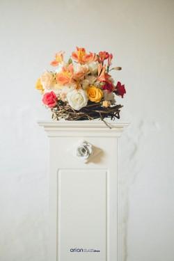 Stalp decorativ alb H 100 cm