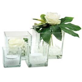 vaza patrata sticla