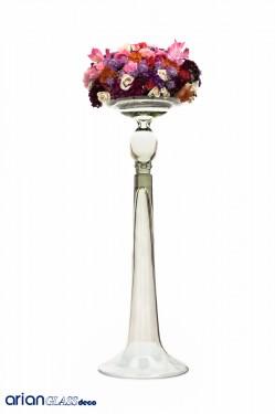 Vaza din sticla transparenta Casandra H 65 D 22