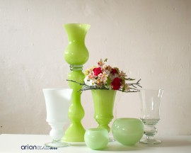 Vaza din sticla verde Alexandra H 65 cm