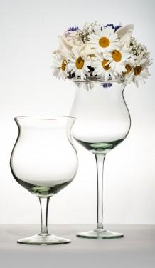 Cupa sticla inalta Floria H 35 D 15 cm