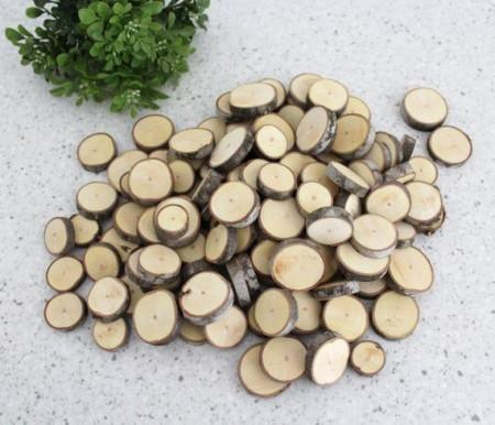 Felii lemn mini albe- punga 20 buc
