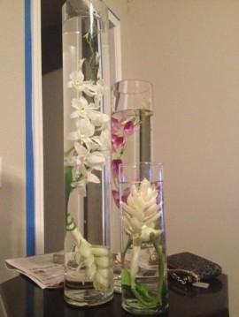 cilindru sticla pentru flori scufundate