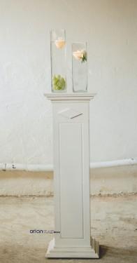 Stalp decorativ alb H 90 cm