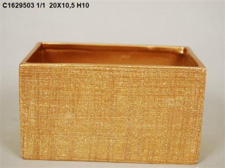 Vas ceramic auriu 20x10.5xH10 cm