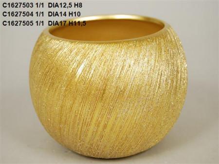 Vas ceramic auriu d 18 cm